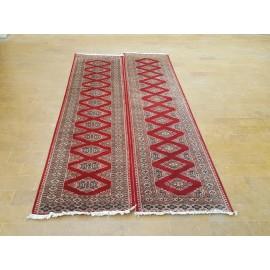 Handknotted Woolen Carpet- Kafkazian design- 2.5 x 10sqft- Red