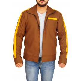 Men Stylish Brown Cotton Jacket