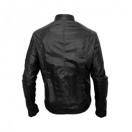 Christian Bale Leather Jacket In Batman Begins Movie