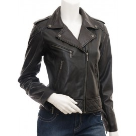Dulce- Women's Genuine Leather Biker Jacket