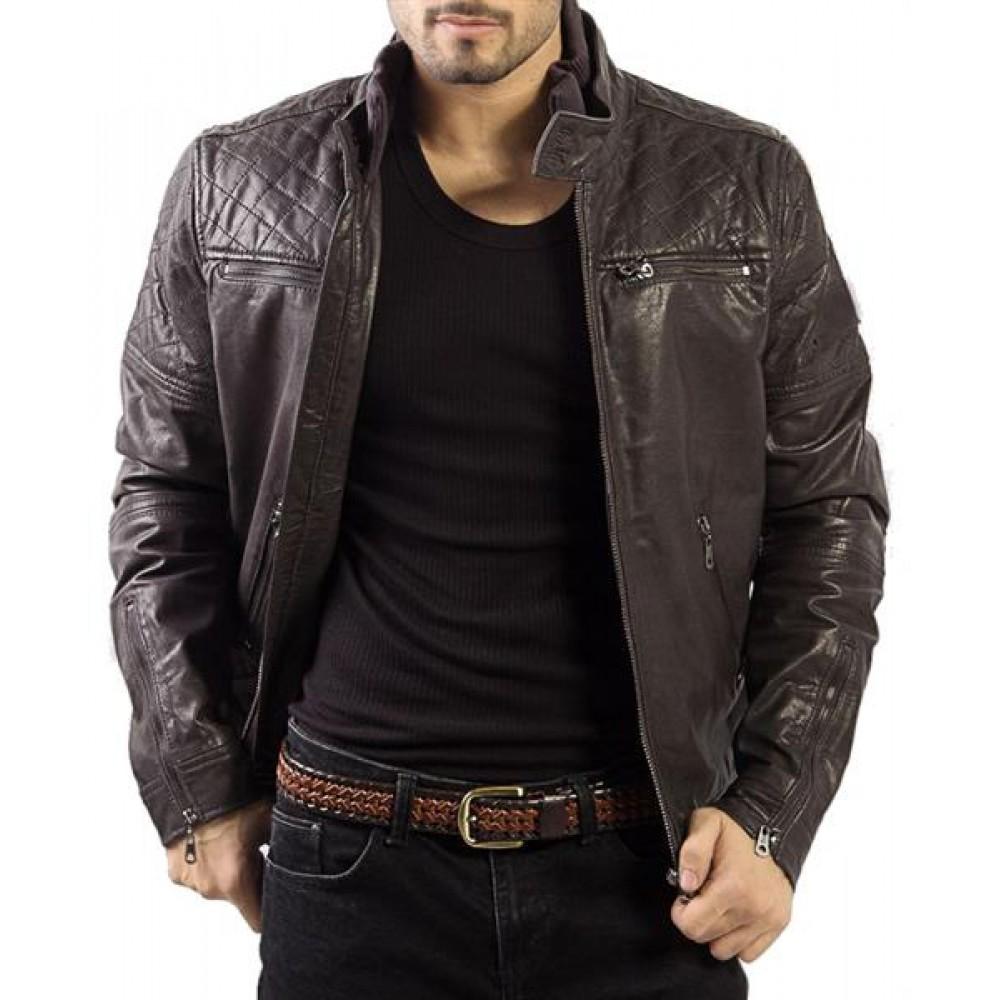 ee7f69dfbd5e0 Filipo – Men s Genuine Leather Bomber Jacket