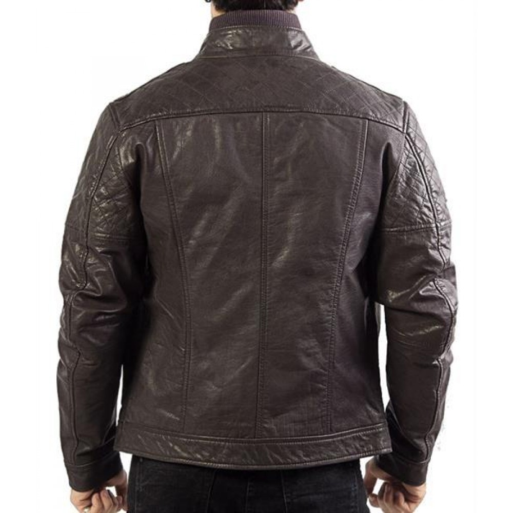 Men's Genuine Leather Bomber Jacket