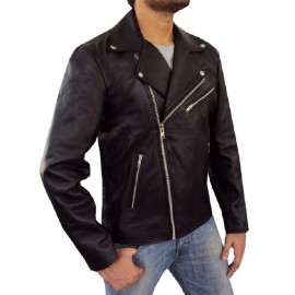 Brando Men's Real Lambskin Leather Jacket Inspired by Hollywood Stars