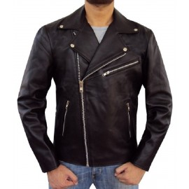 Inspired by Brando- Men's Real Lambskin Leather Jacket