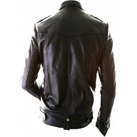 Dude Biker- Men Real Leather Jacket In Black