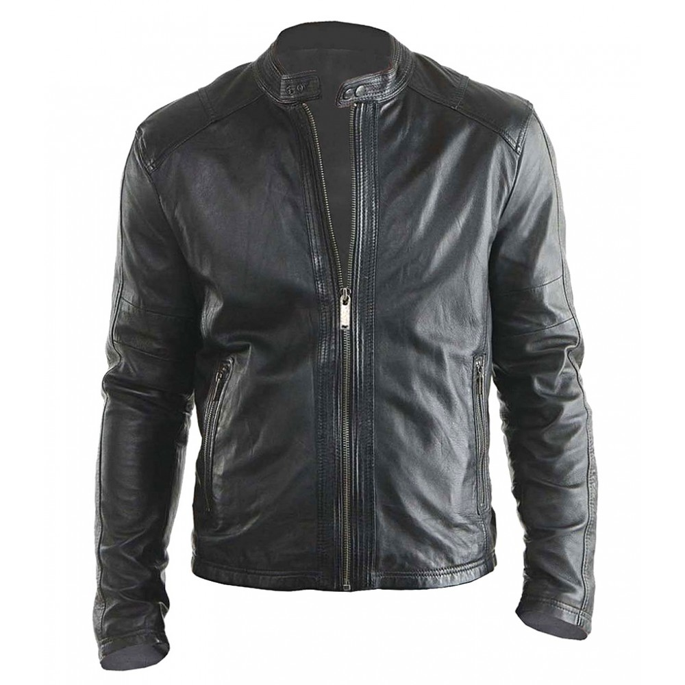 9379a5a1ed2 Hollywood Stylish Design- New Biker Real Leather Jacket