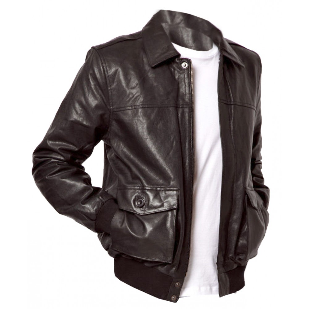 Hatto Bomber Real Lambskin Leather Jacket In Coat Style