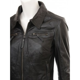 Biker Drusia- Real Lambskin Leather Jacket