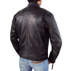 Vanni Biker Leather Jacket In Black New Stylish Designing