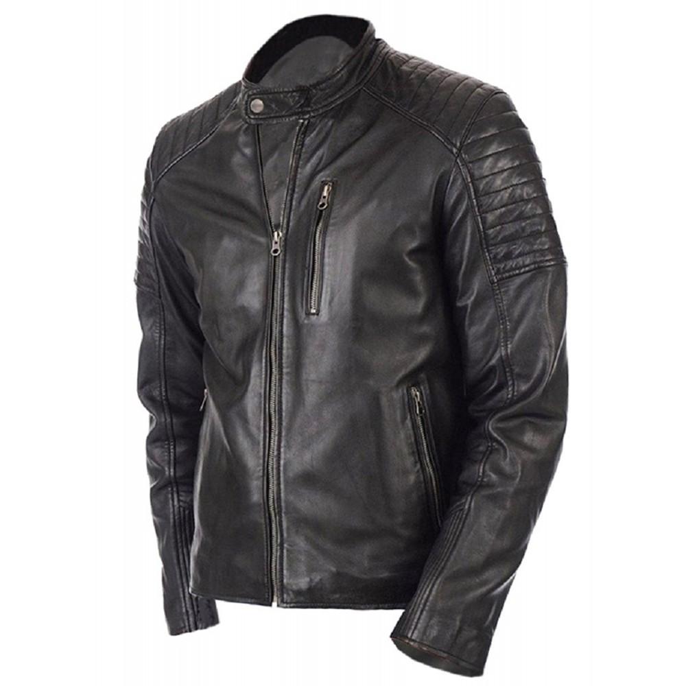Black leather jacket online