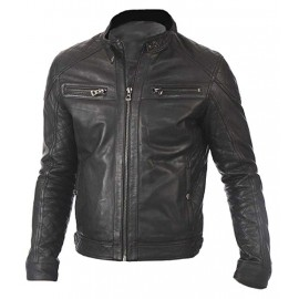 d2558bc85bce Mens New Vintage Marc Real Lambskin Leather Jacket In Black