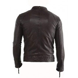 Don Biker Real Leather Jacket In Brown