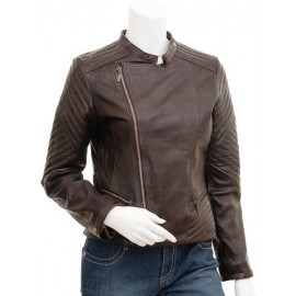 Veronica- Women's Genuine Leather Jacket Biker Jacket