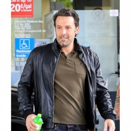 BEN AFFLECK Style BLACK LEATHER JACKET