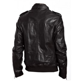 Enzo- Bomber Men's Lambskin Leather Jacket