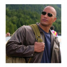 The Rock: Dwayne Johnson Style Leather Jacket